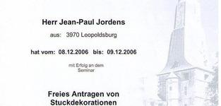 Jordens J.P. - Leopoldsburg - Opleidingen